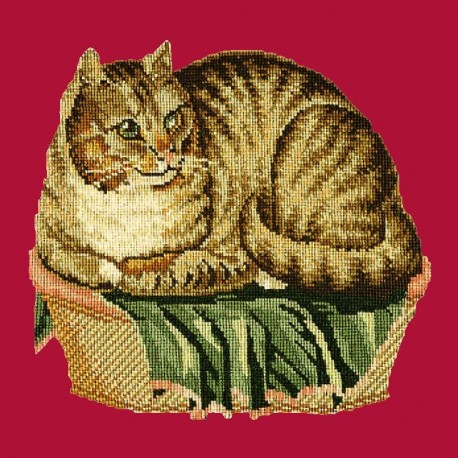 Elizabeth Bradley, Victorian Animals, CONTENTED CAT - 16x16 pollici