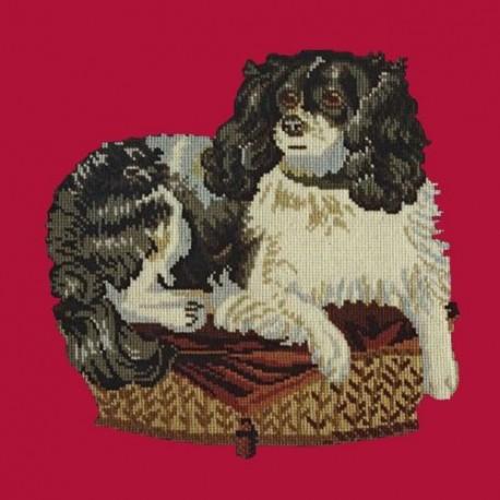 Elizabeth Bradley, Victorian Animals, KING CHARLES SPANIEL - 16x16 pollici