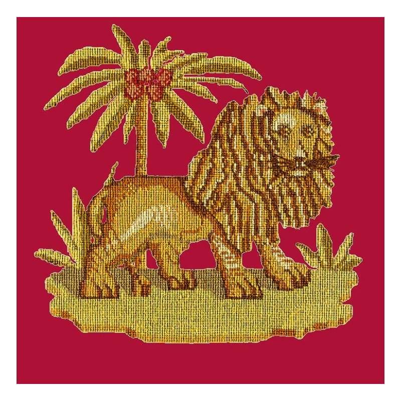 Elizabeth Bradley, Victorian Animals, THE LION - 16x16 pollici