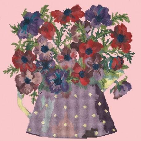 Elizabeth Bradley, Flower Pots, ANEMONE PITCHER - 16x16 pollici