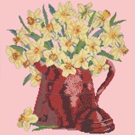 Elizabeth Bradley, Flower Pots, NARCISSI POT - 16x16 pollici