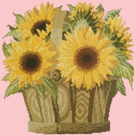 Elizabeth Bradley, Flower Pots, SUNFLOWER BASKET - 16x16 pollici