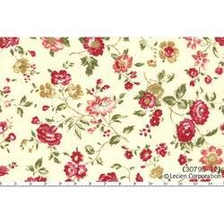 Lecien Quilter's First, Tessuto panna con fiori