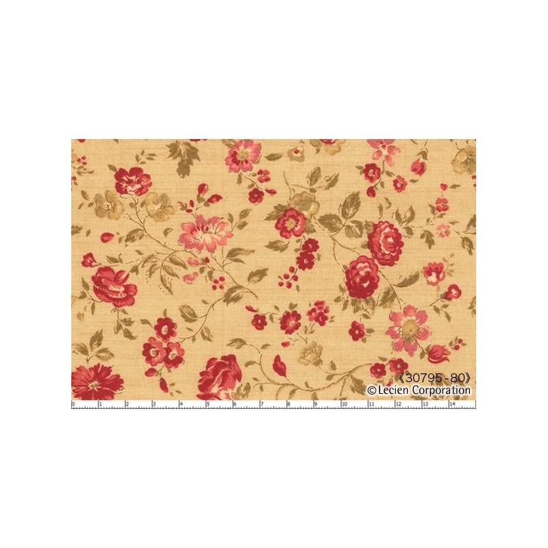 Lecien Quilter's First, Tessuto crema con fiori Lecien Corporation - 1
