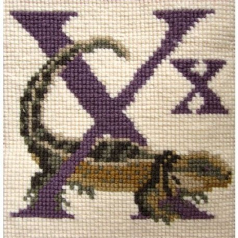 Elizabeth Bradley, Animal Alphabet, X - XENOSAURUS - 6x6 pollici