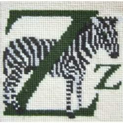 Elizabeth Bradley, Animal Alphabet, Z - ZEBRA - 6x6 pollici