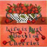 Elizabeth Bradley, Special Edition, BOWL OF CHERRIES - 8x8 pollici