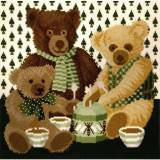 Elizabeth Bradley, Special Edition, GREEN HONEY BEARS - 16x16 pollici