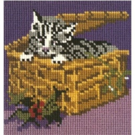 Elizabeth Bradley, Mini Kits, CHRISTMAS KITTEN - 6x6 pollici