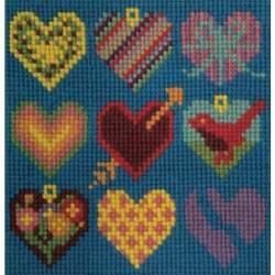 Elizabeth Bradley, Mini Kits, HEARTS - 6x6 pollici