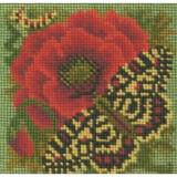 Elizabeth Bradley, Mini Kits, POPPY AND BUTTERFLY - 6x6 pollici