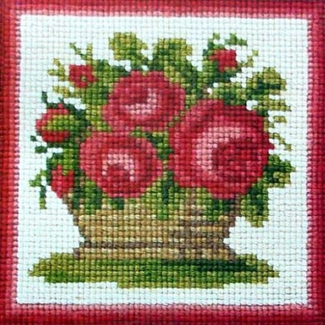 Elizabeth Bradley, Mini Kits, ROSE BASKET - 6x6 pollici