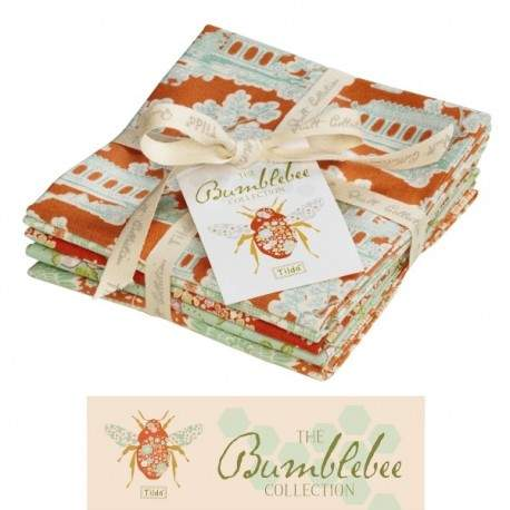 "Tilda Fat Quarter Bundle Ginger, ""Bumblebee"" 5 pz"