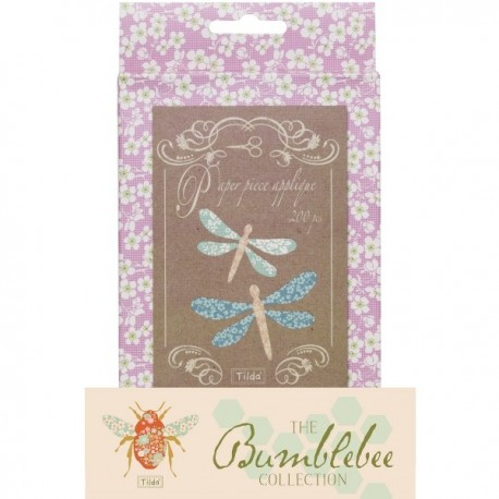 Tilda Paper Piecing - Libellule per Applique, Bumblebee