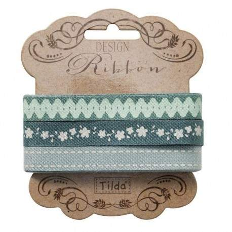 "Tilda ribbon set ""Spring Lake"" 10 mm, 3pz"