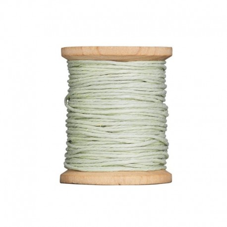 "Tilda hemp twine on spool green ""Apple Bloom"", 20 mt"