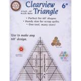 Clearview Triangle 6 inch - 60° Squadra in Acrilico