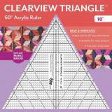 Clearview Triangle 10 inch - 60° Squadra in Acrilico