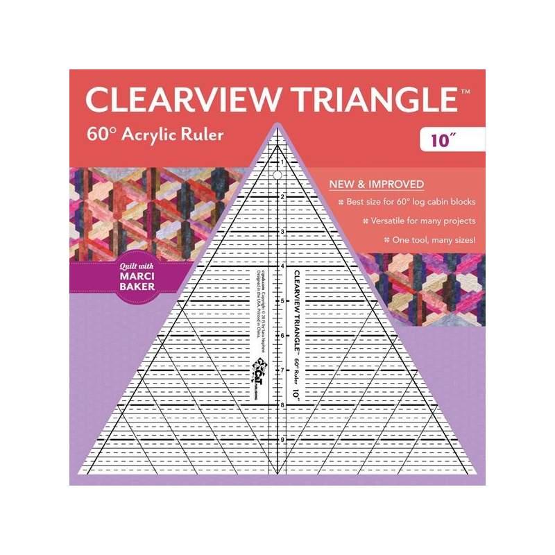 Clearview Triangle 10 inch - 60° Squadra in Acrilico