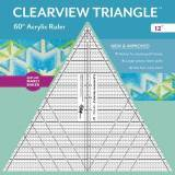 Clearview Triangle 12 inch - 60° Squadra in Acrilico