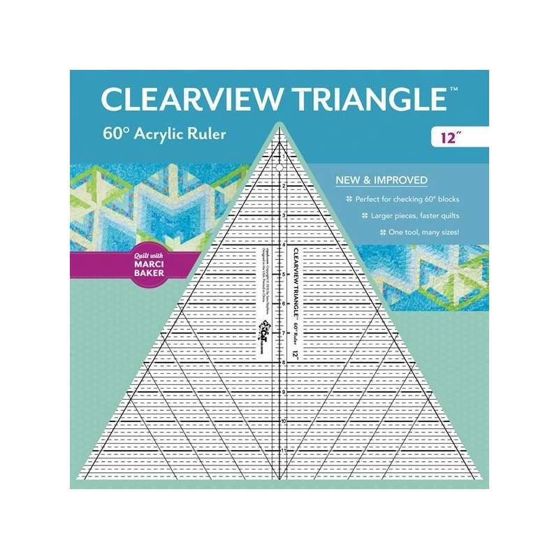 Clearview Triangle 12 inch - 60° Squadra in Acrilico