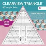 Clearview Triangle 8 inch - 60° Squadra in Acrilico