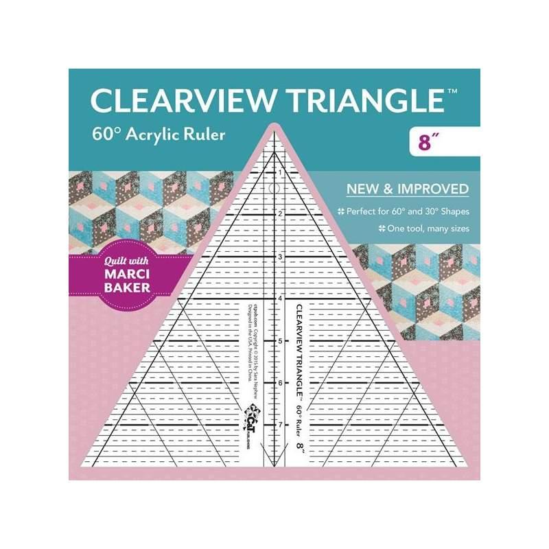 Clearview Triangle 8 inch - 60° Squadra in Acrilico