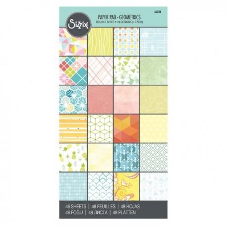 Sizzix, Paper 6 x 12 Cardstock Pad Basics 48 Sheets