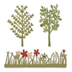 Sizzix, Thinlits Dies Green Garden