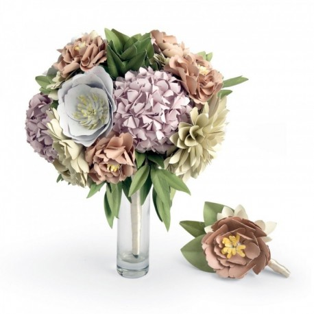 Sizzix, Kit fai da te - Bouquet & Boutonniere by David Tutera