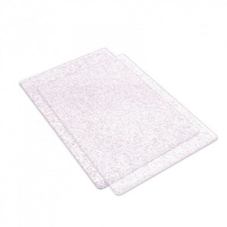 Sizzix, Cutting Pads Standard 1Pair (Clear w/Silver Glitter)