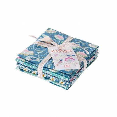 Tilda Fat Quarter Bundle Blue Teal