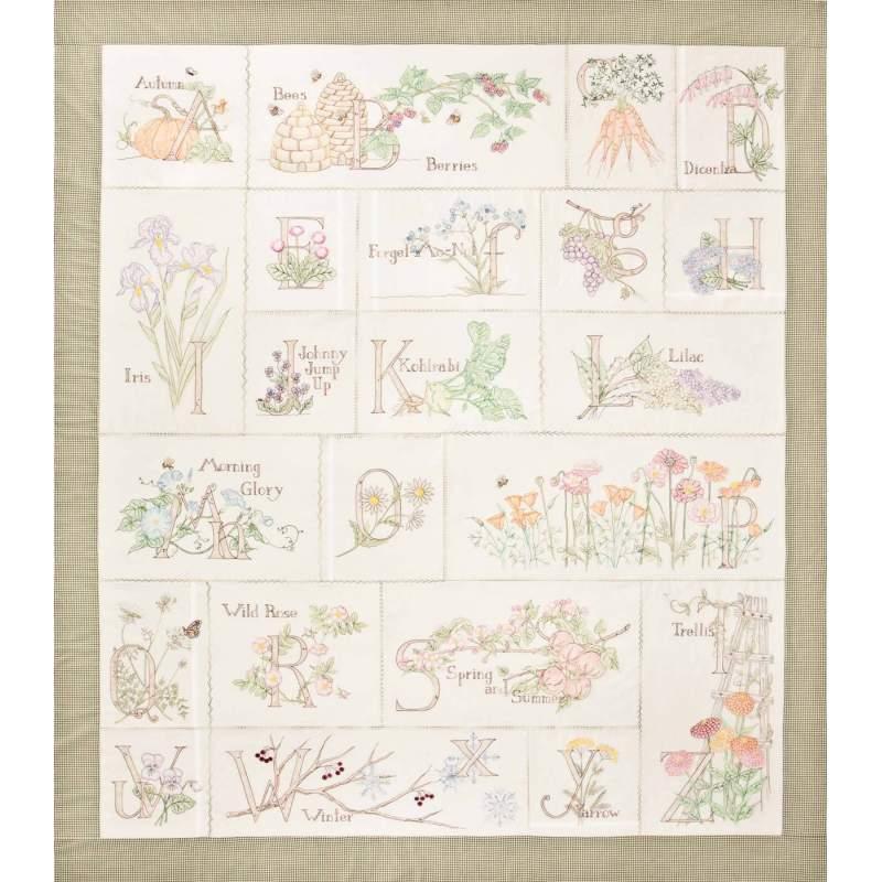 Crabapple Hill Studio, A Gardener's Alphabet Block of the Month Full Set