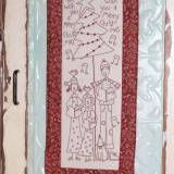 The BirdHouse, The Carolers- Christmas Pre-printed Stitchery
