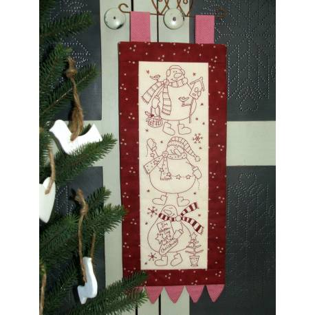 The BirdHouse, Snow Buddies – Christmas Pre-Printed Stitchery
