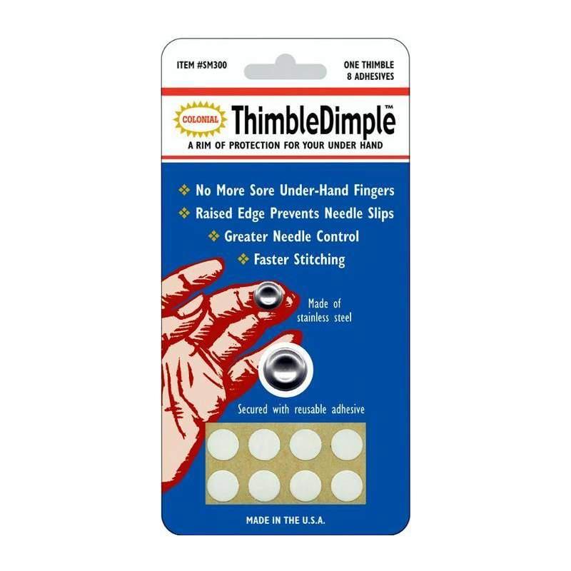 Colonial - Ditale per polpastrello in acciaio - Thimble Dimple