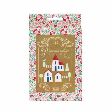 Tilda Paper Piecing - Villaggio per Applique, Cottage