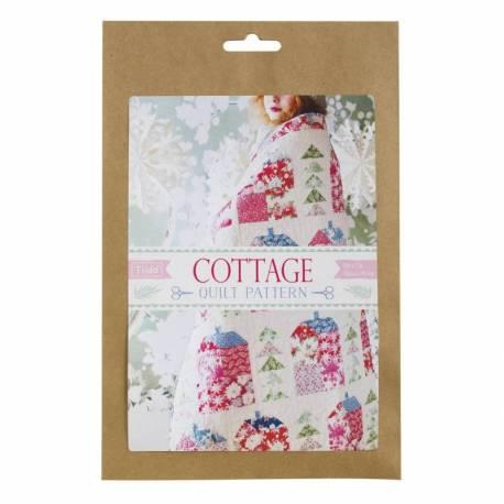Tilda Quilt Pattern Cottage, 131x193 cm