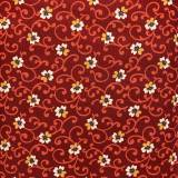 Marcus Fabrics Provence and Beyond, Tessuto Rosso con Fiori