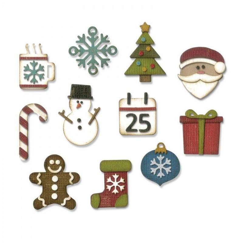 Sizzix, Thinlits Set di 11pz - Piccole Cose di Natale