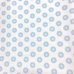 Gutermann Summer Loft, Tessuto Bianco con Fiori Azzurri