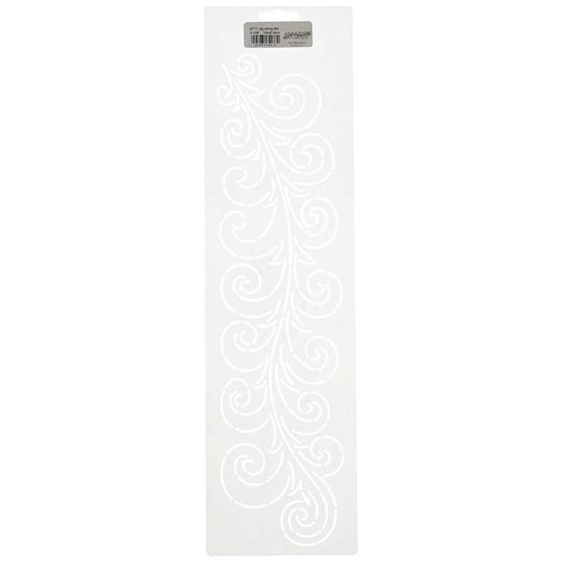 Sten Source, Stencil per Quilt by Sue Pattern - Swirl 10x40cm