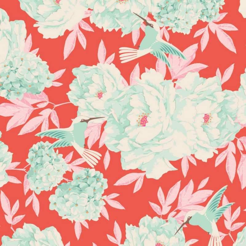 Tilda 110 Hummingbird Coral - LemonTree