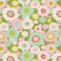Tilda 110 Boogie Flower Green - LemonTree