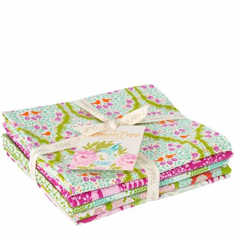 Tilda Fat Quarter Prugna/Verde, 5 Pezzi - LemonTree
