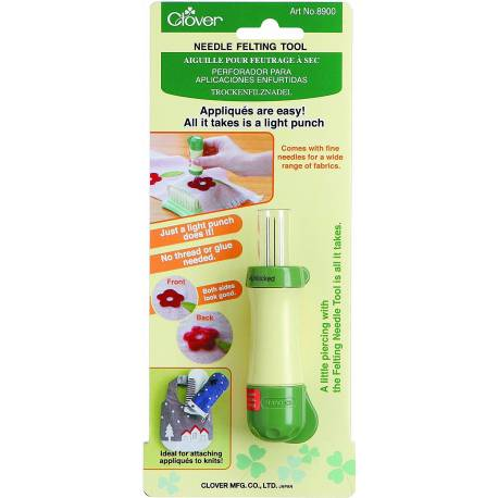 Clover, Punciatore Manuale 5 Aghi Per Punching Needle
