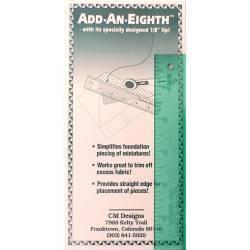 "Add-A-Eighth 1/8"", Squadra 6"" per foundation-paper piecing"