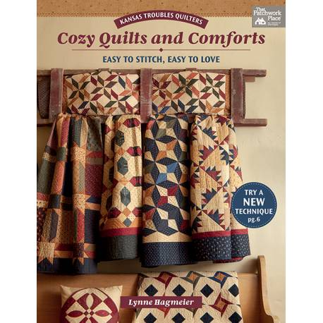 Kansas Troubles Quilters Cozy Quilts and Comforts, Easy to Stitch, Easy to Love