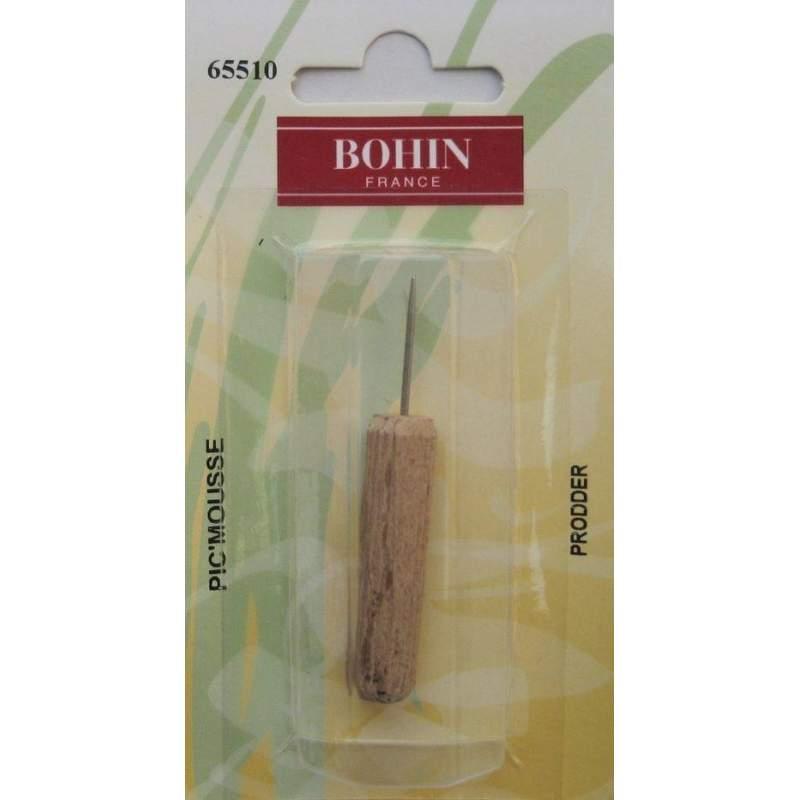 Bohin, Pungolo da Ricamo, Manico in Legno - 6 cm
