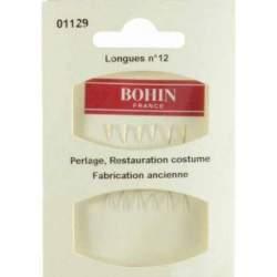 Bohin, Aghi Fini per Riparazione Costumi n12 Cruna d'Oro - 6pz